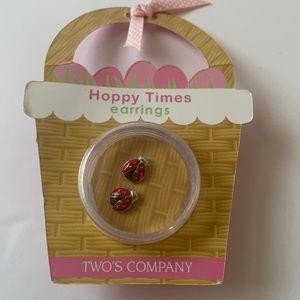 Hoppy times ladybug earrings